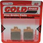 Rear Disc Brake Pads for Gilera Stalker 50 2001 50cc  By GOLDfren