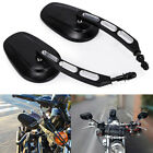 2x Mirrors For Harley Dyna Street Bob FXDB 2007 2017 Road King Models 2014 later