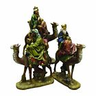 Northlight 3 Piece Religious Three Kings on Animals Christmas Nativity Table Top