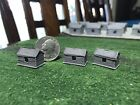 Z SCALE LOT OF 6 ABANDONED MINIATURE Back Yard Sheds Out Buildings