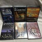 Jesus Christ Resurrection Angels God Nativity Warnings Lot Of 6 Sealed New Dvds