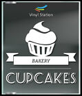 Bakery Cupcakes Decal Sign Business Store Vinyl Window Decal