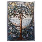 Tiffany Style TREE OF LIFE Stained Art Glass Window Panel