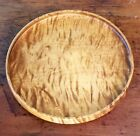 Vintage Tiger Maple Tray Bowl Wood Lathe Turning Signed and dedicated Norwegian