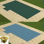 GLI Solid Swimming Pool Safety Cover w 1 Left Offset Step  Wood Anchors