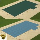 GLI Solid Swimming Pool Safety Cover w 2 Right Offset Step  Wood Anchors