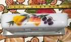 Vtg Fire King Gay Fad 1.5qt casserole 10x6.5 Hand Painted fruit pear peach grape
