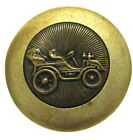 NICE ANTIQUE METAL TRANSPORTATION BUTTON WITH OLD CAR C185