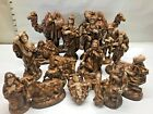 LARGE Atlantic Mold VTG 18 Lot Set Christmas Nativity Antique Ceramic Figurine