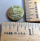 SONS BRAND Brass Overall / Work Clothes BUTTON, Train Design, Small