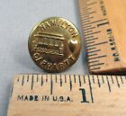 HAMILTON CARHARTT BRAND Brass Overall / Work Clothes BUTTON, 1800s, Train Image