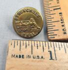 L. BRAND Brass Overall / Work Clothes BUTTON, Train Design