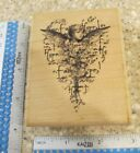 CUPIDS HEART MW RUBBER STAMP PAPER INSPIRATIONS