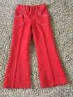 DONMOOR boys 9 brick red bell bottom permanent press pants Brady Bunch VTG 1970s