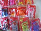 McDonald's 2004 Ty Beanie Bears Fast Food Toys New-MIP Complete Set 12