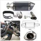 Black Moped Motorcycle Scooter Exhaust Muffler Pipe w Removable DB Silencer Can
