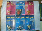 ALL 6 Set (c) 1981 Carded! PAC-MAN Arcade Figures Coleco Bally Midway