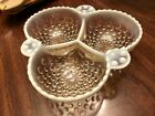 Vintage Anchor Hocking Moonstone Hobnail  6 1/2
