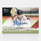 2018 Topps Now #908A Andrew Benintendi Auto 99 Red Sox Game Saving Catch ALCS