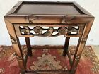 CHINESE HUANGHUALI HARD WOOD SIDE TABLE QING OLD CA ESTATE ANTIQUE RARE DESIGN