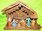 VINTAGE WOODEN NATIVITY SET MADE IN ITALY 13 CHRISTMAS SCENE
