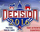 2016 Decision Political Trading Cards 20 Box Blaster Case Trump Clinton