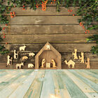 Wood Design Nativity of Jesus Xmas 10X10FT Vinyl Backdrop Background Studio Prop