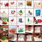 Multi Patterns 3D Pop Up Christmas Greeting Card New Year Cards Invitations Gift