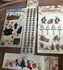 LOT of 4 Rub On Transfers First Impressions Christmas Scrapbooking