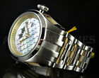 Invicta Mens 50mm BOLT ZEUS Multi Color MOP Dial 18KGP Wires All Silver SS Watch