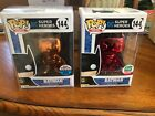 Funko Pop Heroes NYCC 2018 Orange CHROME Batman & Red Chrome Batman Funko Excl
