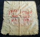 VINTAGE TURKEY RED REDWORK EMBROIDERY-LIFE WAS DUTY-PILLOW TOP-CUTTER OR REPAIR