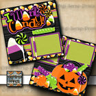HALLOWEEN CANDY 2 premade scrapbook pages paper piecing BY DIGISCRAP A0147