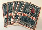 Obama Yes We DID Shepard Fairy Art 11 4 2008 5 stickers Large 45 x 6 in MINT