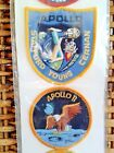 NEW NASA Kennedy Space Center 12 Iron on Apollo Emblems Patches Original Pack