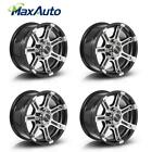 4 pcs 1set Black Machined 6x1397 16X8 +10mm Wheels for Ford Courier Chevy 1500