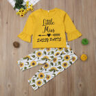 Cute Toddler Kids Baby Girls Floral Top T shirt Pants Leggings Outfit Clothes US