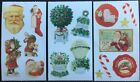 3 Strips of Stickers Frances Meyer Christmas Mint Condition