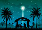 Xmas Night Jesus Nativity Christ Scene 10x8FT Vinyl Studio Backdrop Background