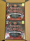 2018 Upper Deck Goodwin Champions Factory Sealed Hobby Box x 2