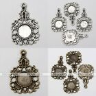 10x Tibetan Silver Butterfly Flower Photo Picture Frame Charms Pendant Findings