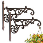 Pack 2 Cast Iron Plant Hanger Hook Bracket Home Garden Flower Pot Basket Hanger
