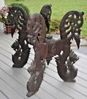 ANTIQUE CHINESE CARVED WOOD Dragon TABLE STAND BASE Asian JAPANESE Sculpture