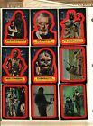 1977 Topps Star Wars Sticker Card Set OF 11 Series 2 RED Very Good TO Excellent