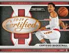 2018 19 PANINI CERTIFIED BASKETBALL HOBBY BOX - FACTORY SEALED (W)