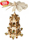 Christmas Decoration Pyramid 18 Inches Nativity Play 3 Tier Carousel with 6