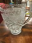 Small Anchor Hocking Wexford Glass Pitcher 5 3/4 Inches Tall Sparkling Con