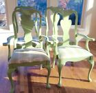 Queen Anne dining chair set of 4 vintage great shape but need refinishing