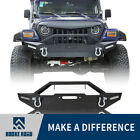 Rock Crawler Front Bumper w LED LightsWinch Plate for 87 06 Jeep Wrangler TJ YJ