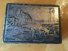 Vintage Rare Antique L.B.S. Co Silver Plate Repousse Hinged Lid Box Silverplate